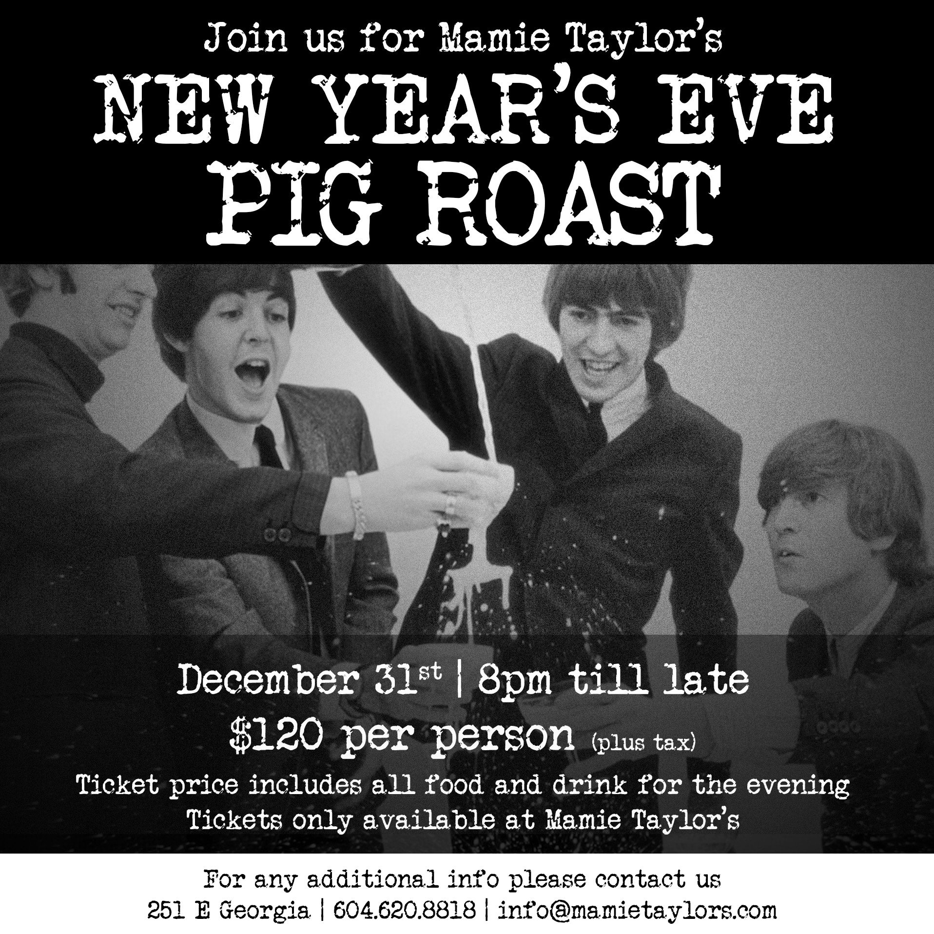 New Year's Eve Pig Roast